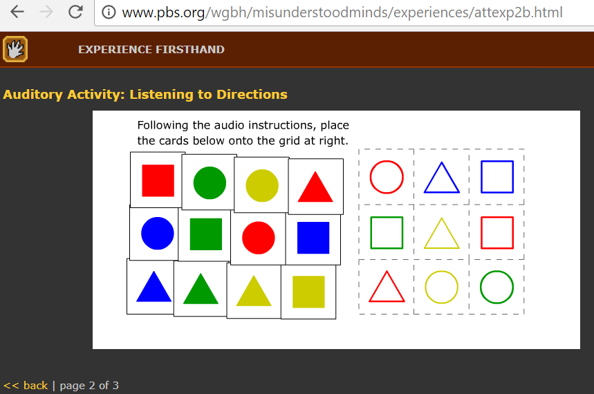 Listening situation in the classroom