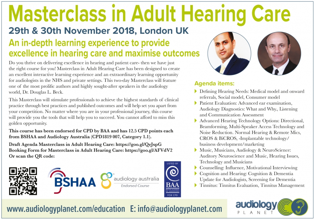 World class audiology courses in various specialist clinical ...